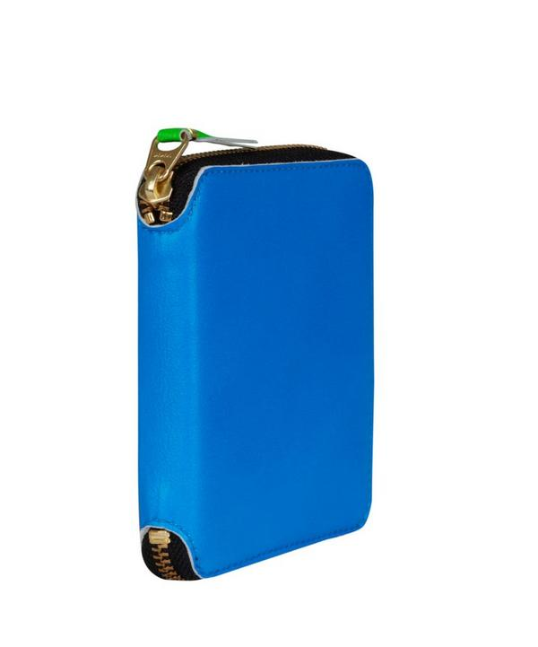 Blue Fluorescent Zip-around Wallet