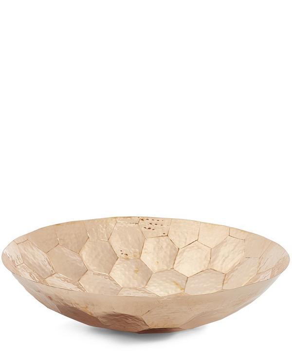 Large Hex Copper Bowl