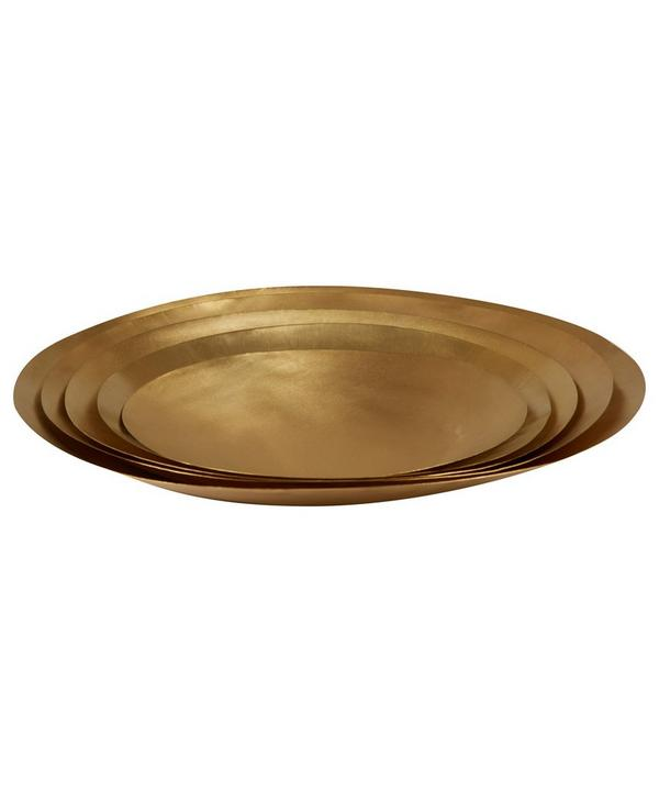Large Brass Form Bowl Set