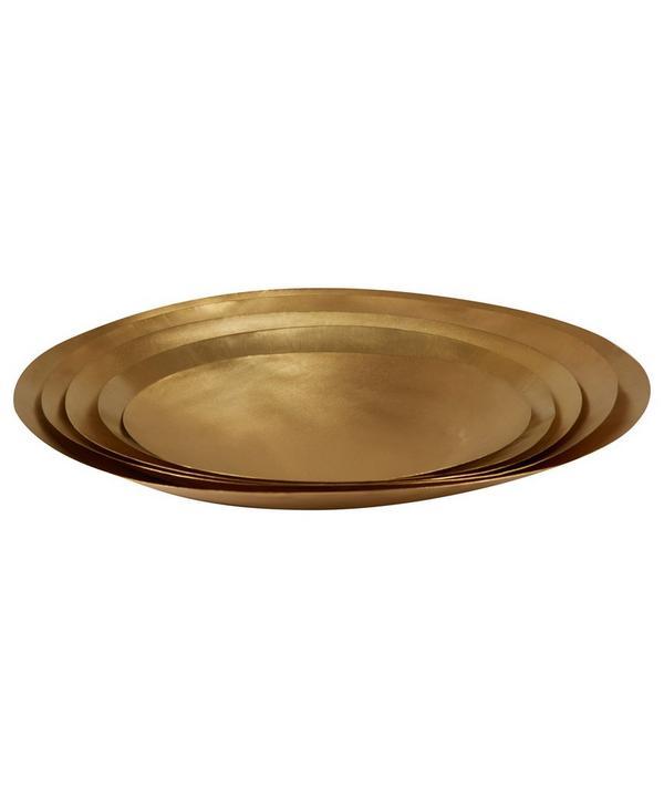 Large Brass Form Bowl Set