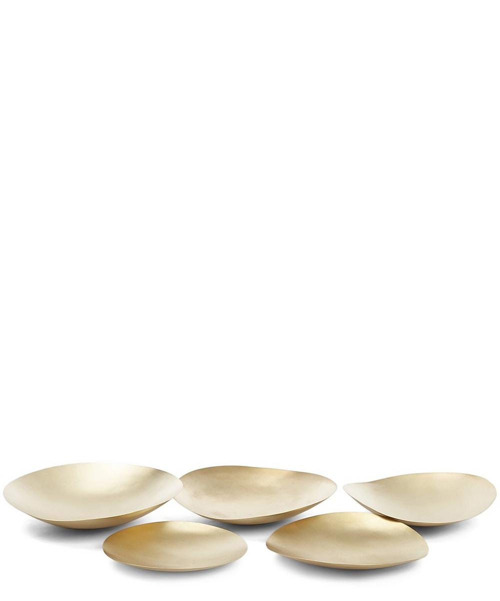 Small Form Brass Bowl Set