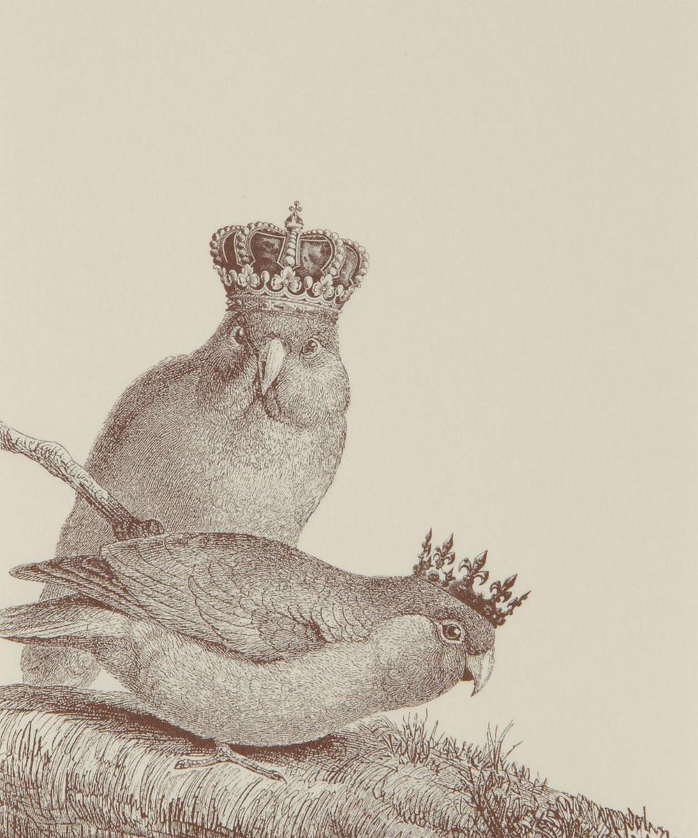 Royal Lovebirds Long Notepad