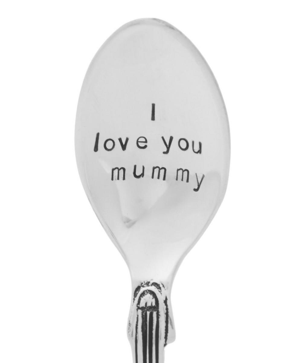 Silver-Plated I Love You Mummy Teaspoon