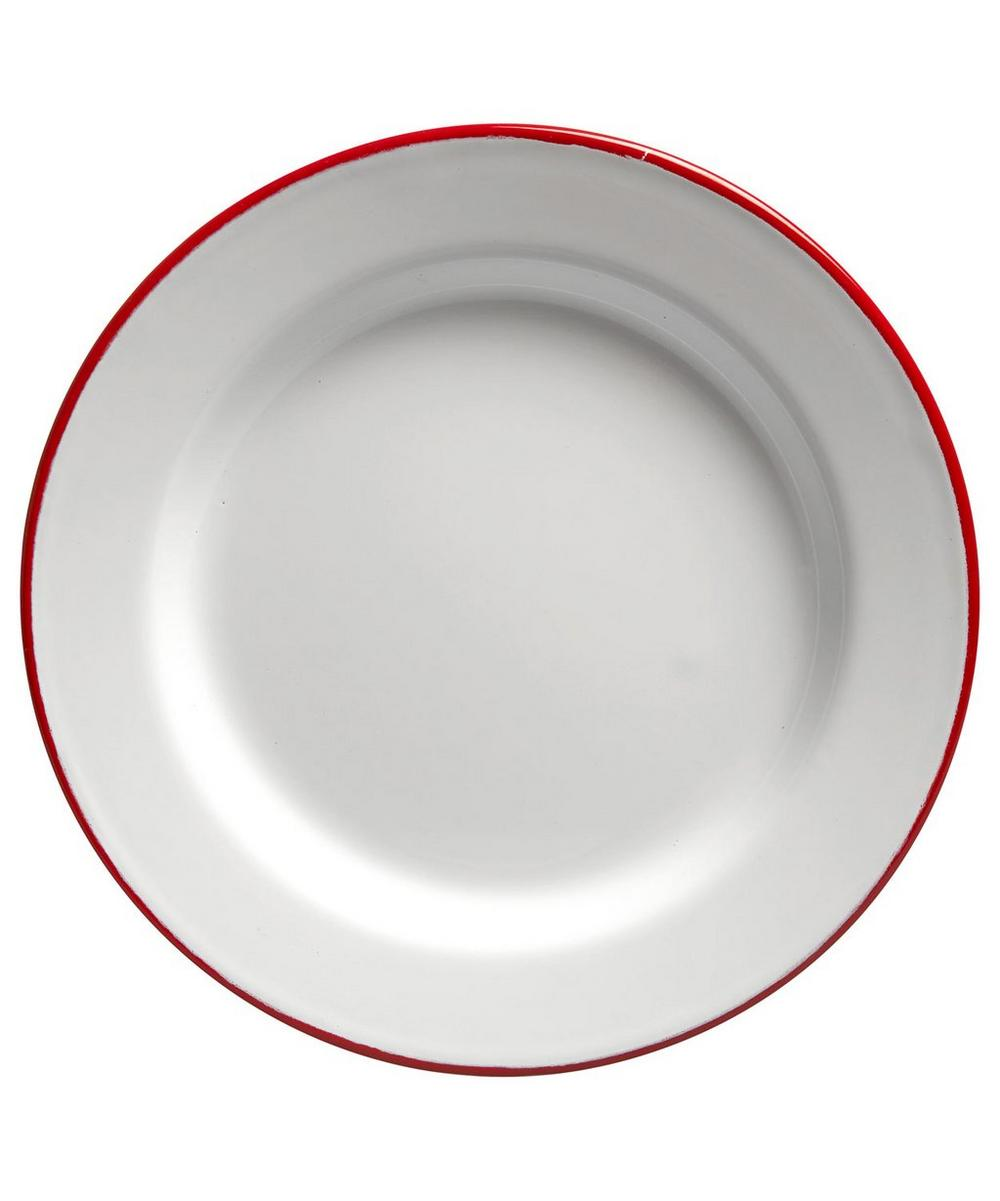 Four-Piece Enamel Plate Set