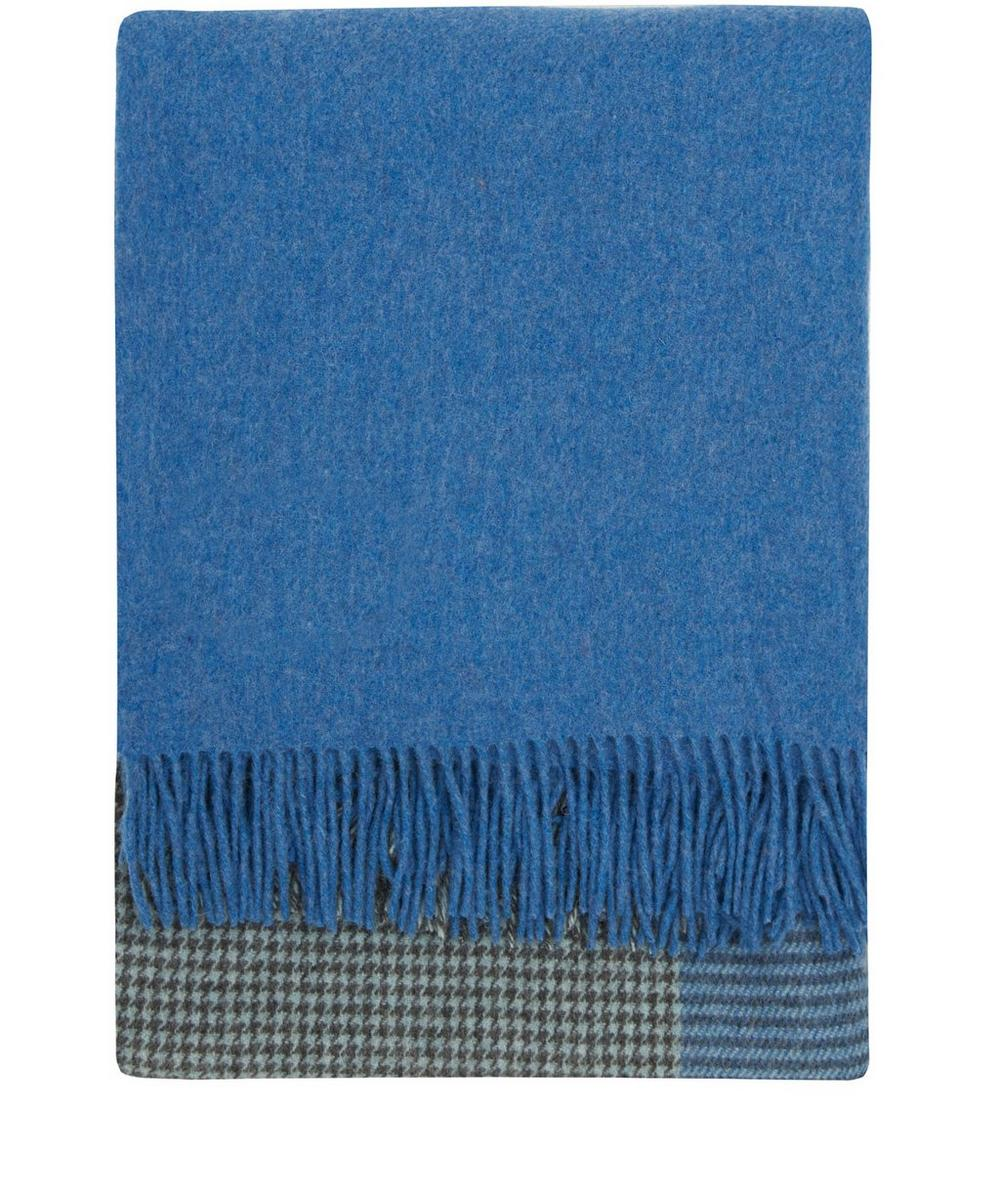 Check Merino Wool Throw
