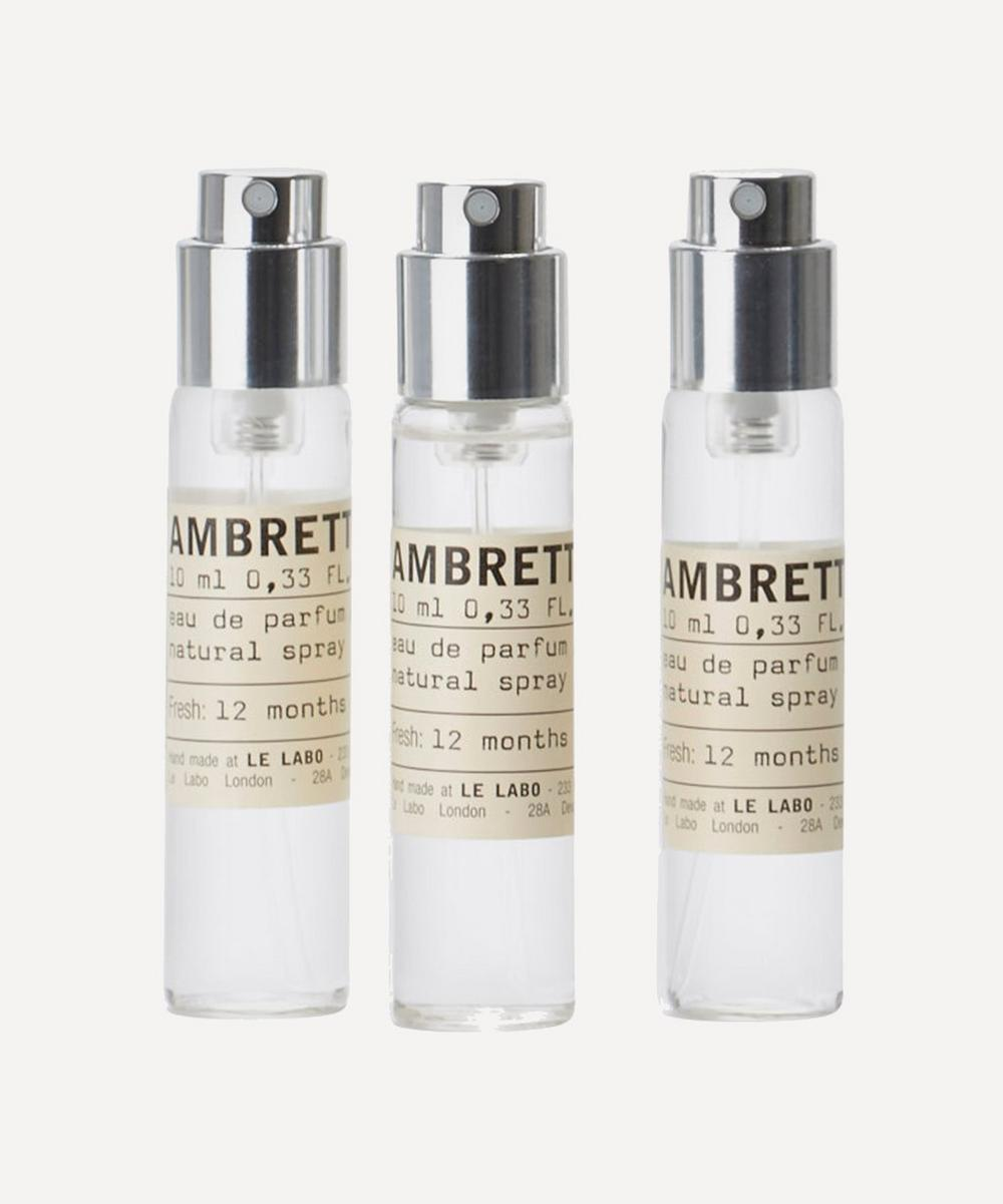 Ambrette 9 Eau de Parfum Travel Tube Refills 3 x 10ml