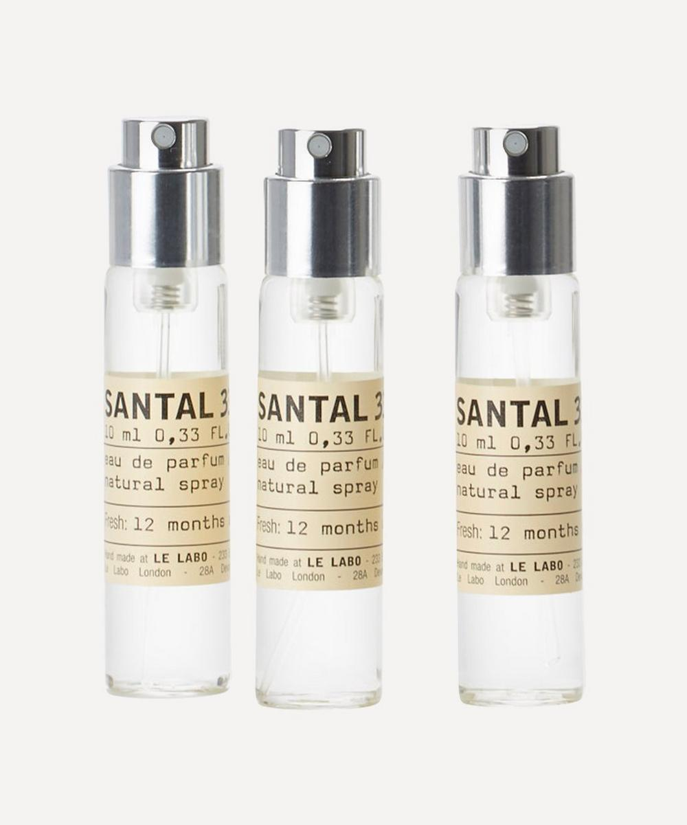 Santal 33 Eau de Parfum Travel Tube Refills 3 x 10ml