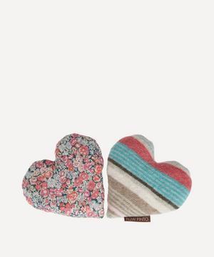 Pair of Mini Lavender Blossom Hearts