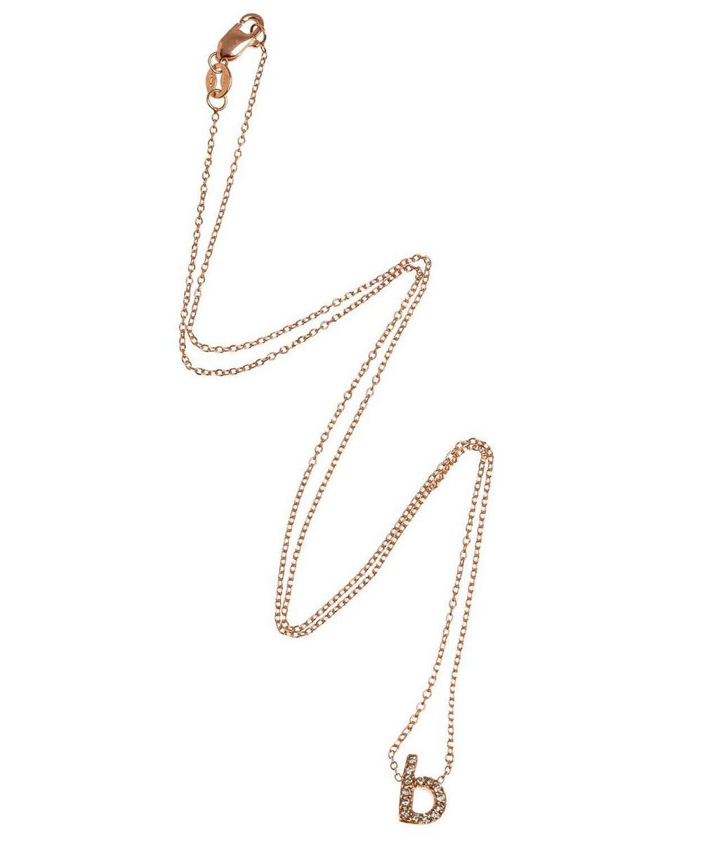 Rose Gold Diamond Letter B Necklace