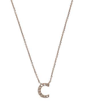 Rose Gold Diamond Letter C Necklace
