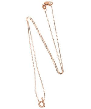 Rose Gold Diamond Letter D Necklace