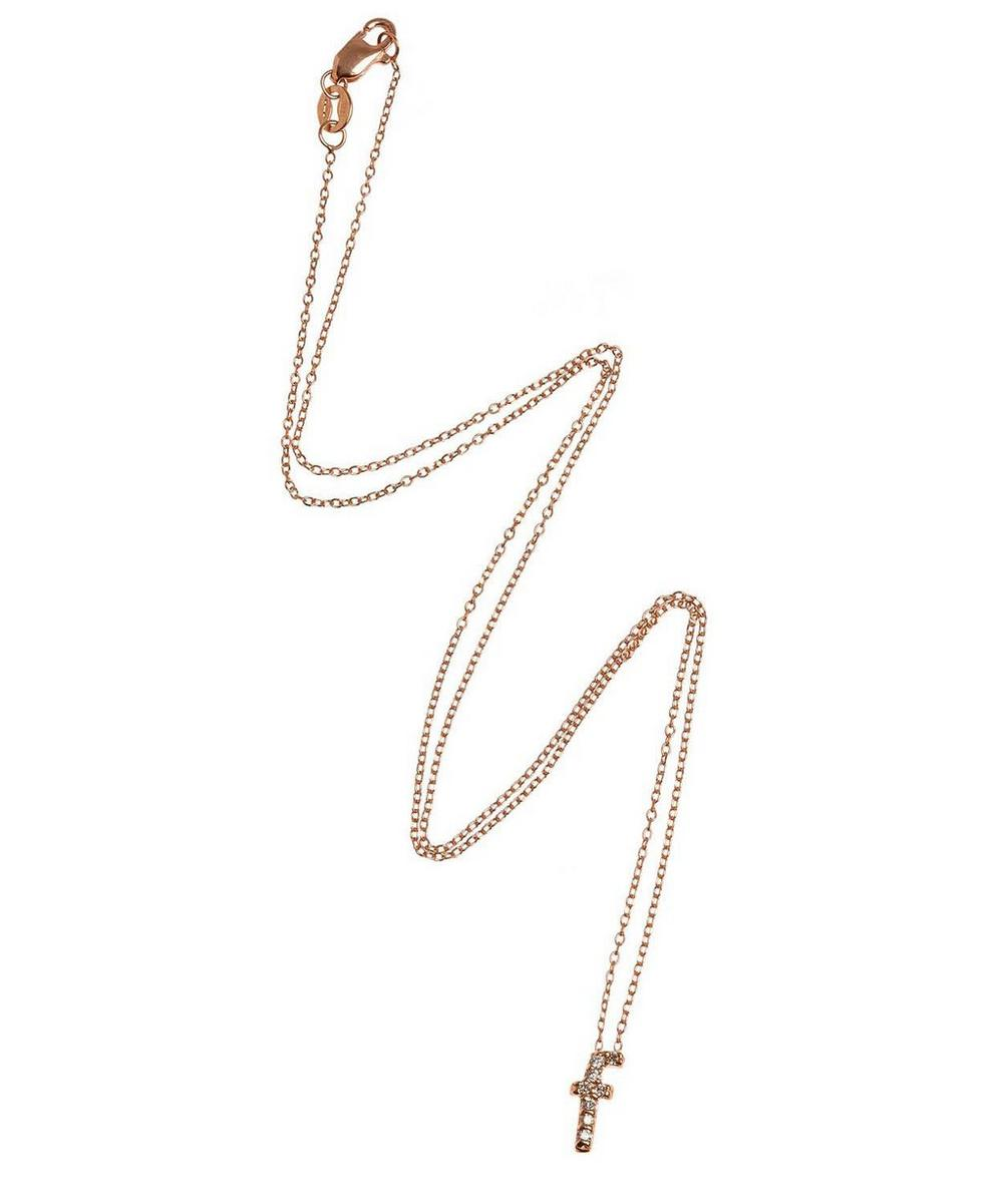 Rose Gold Diamond Letter F Necklace
