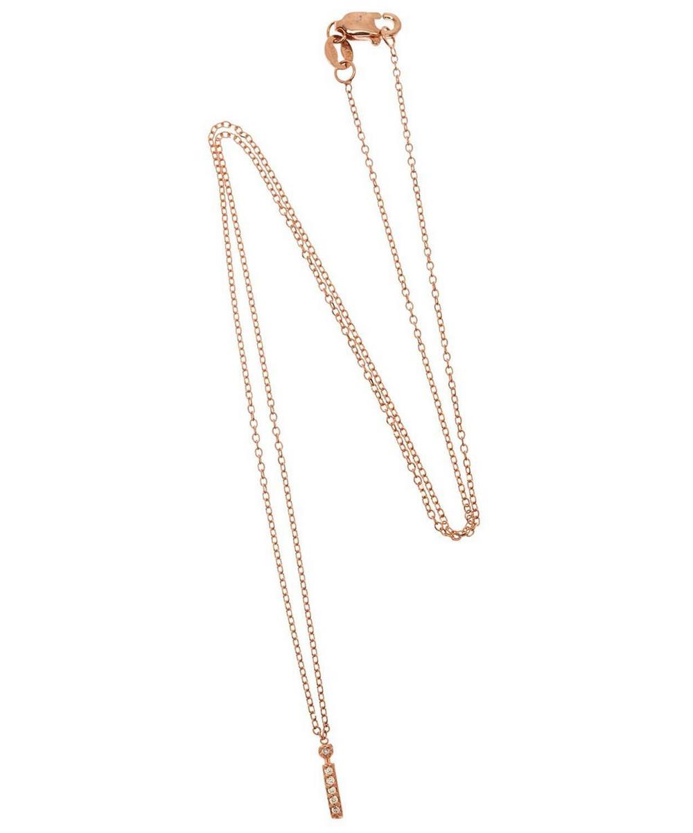 Rose Gold Diamond Letter I Necklace
