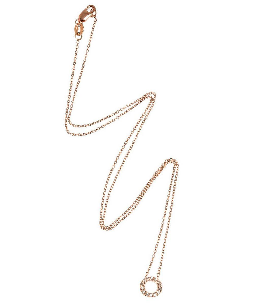 Rose Gold Diamond Letter O Necklace