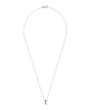 Rose Gold Diamond Letter T Necklace
