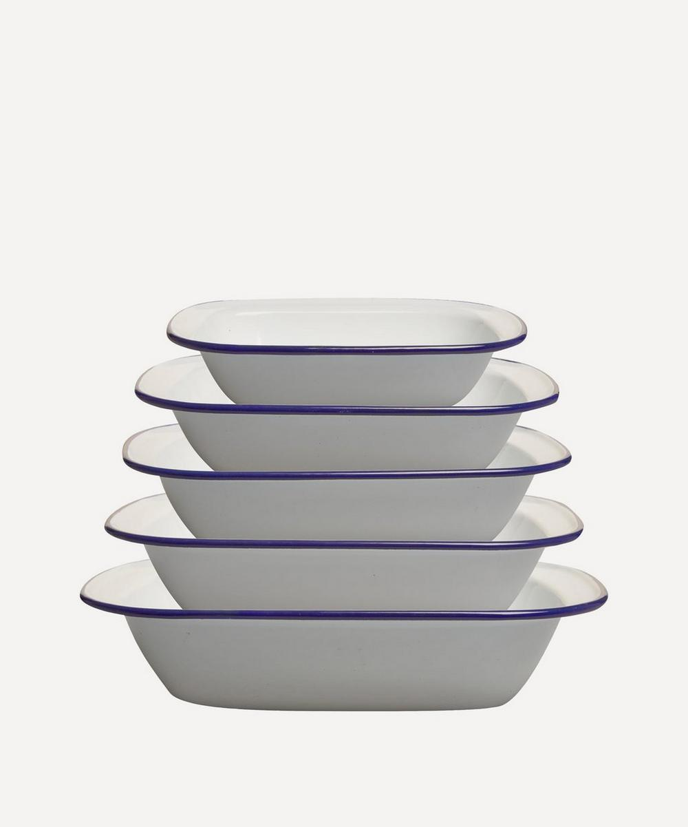 Five-Piece Enamel Pie Set