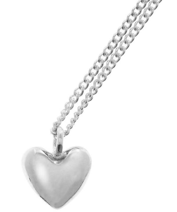 Silver Bijou Heart Pendant Necklace