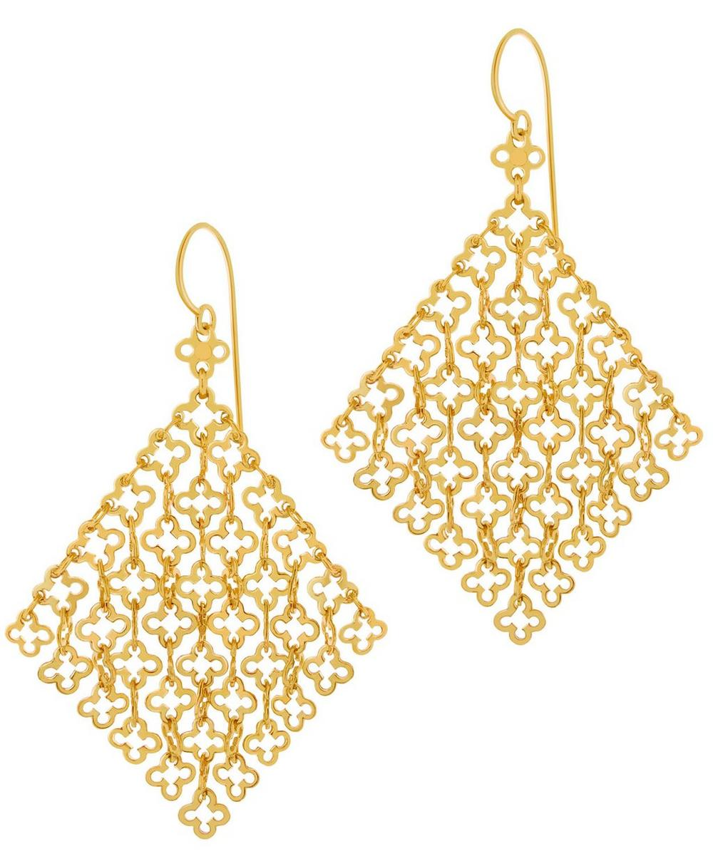 Gold Vermeil Talitha Statement Earrings