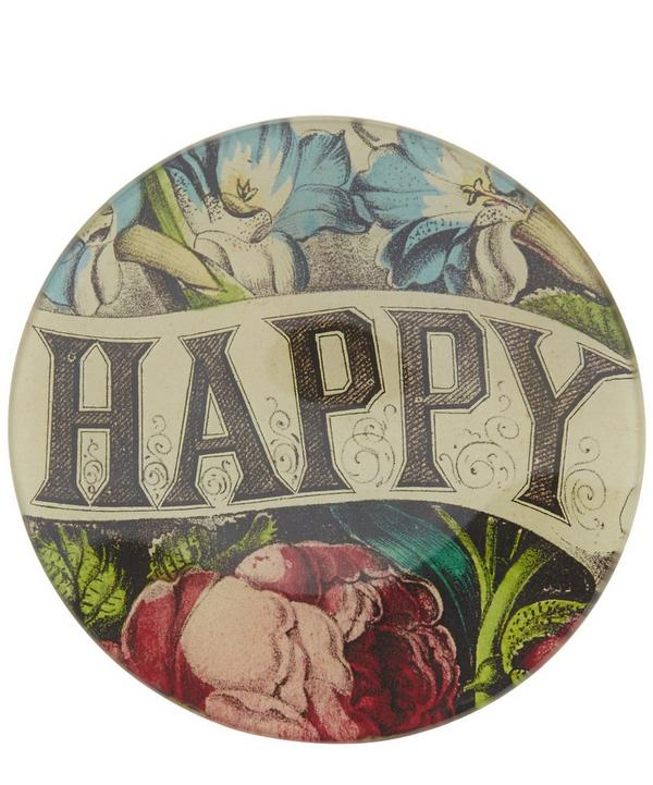 Happy Glass Round