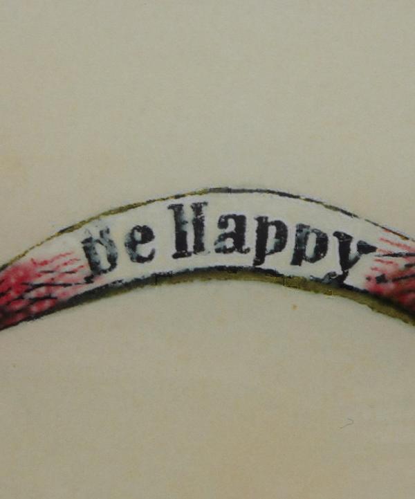 Be Happy Glass Tray