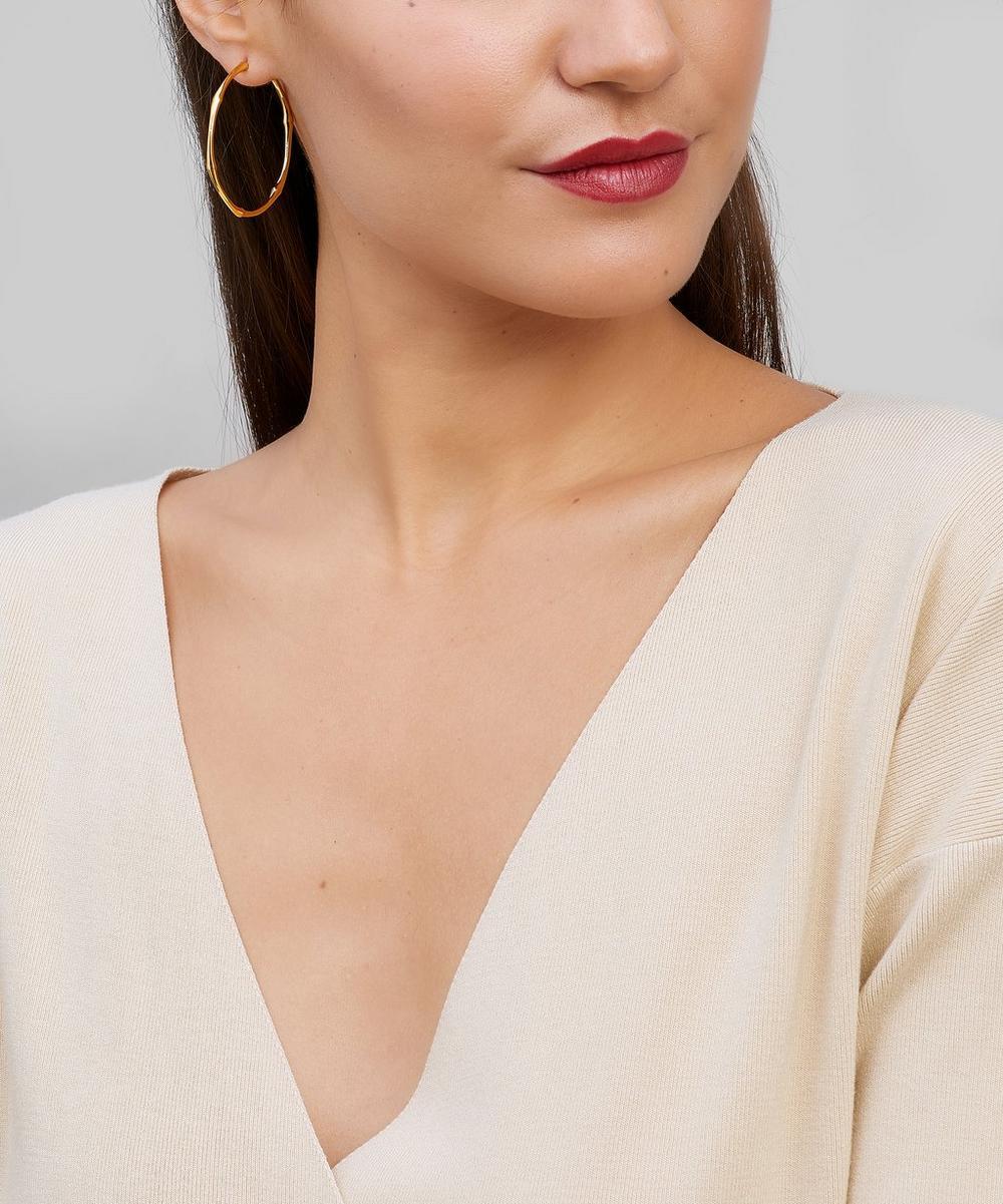 Gold Plated Vermeil Bamboo Hoop Earrings