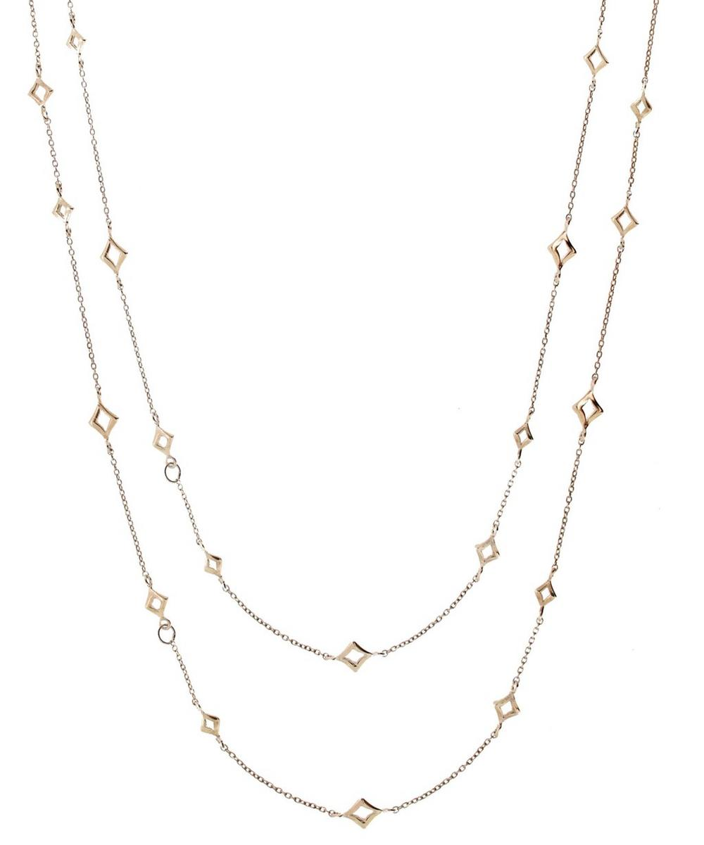 Silver Almaz Long Chain Necklace