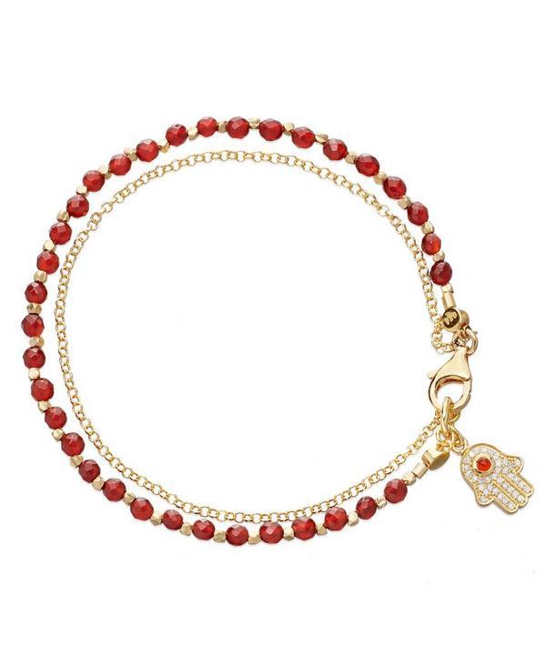 Red Agate Hamsa Biography Bracelet