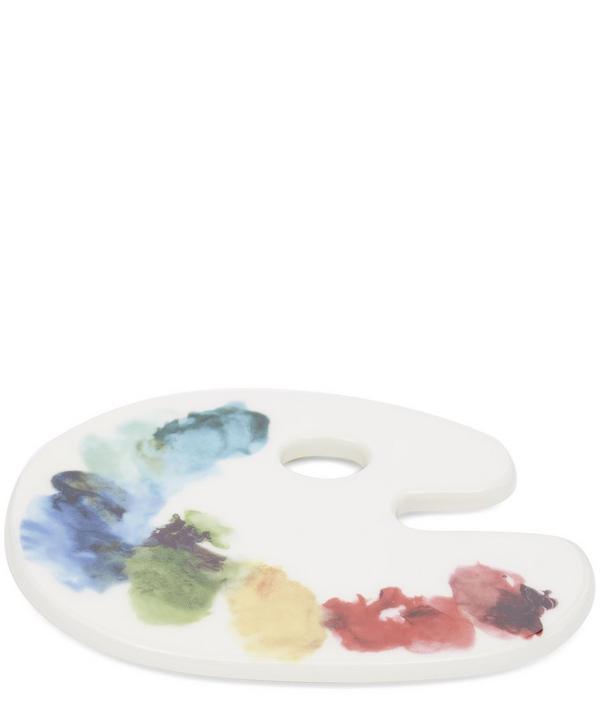 Artist Palette Ceramic Coaster
