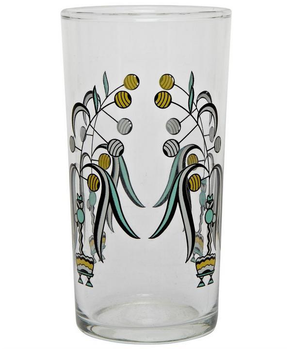 Deco Floral Design Italian Wine Glass