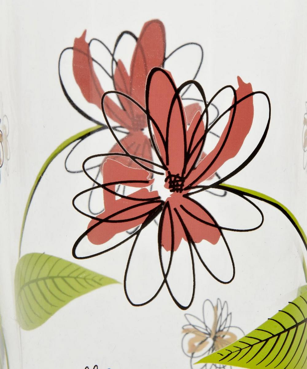 Spiral Floral Italian Wine Glass