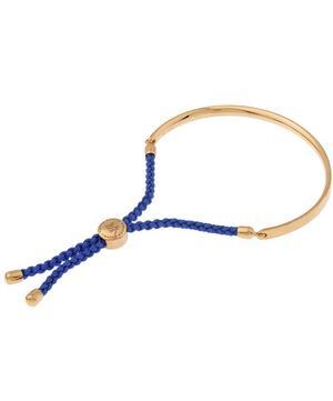 Rose Gold Vermeil Blue Cord Fiji Bracelet