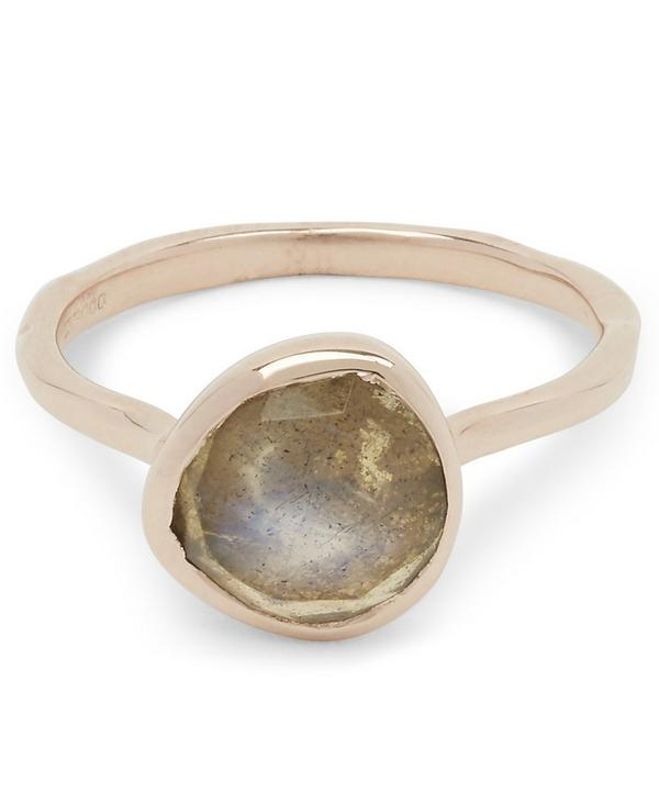 Rose Gold Vermeil Labradorite Siren Stacking Ring