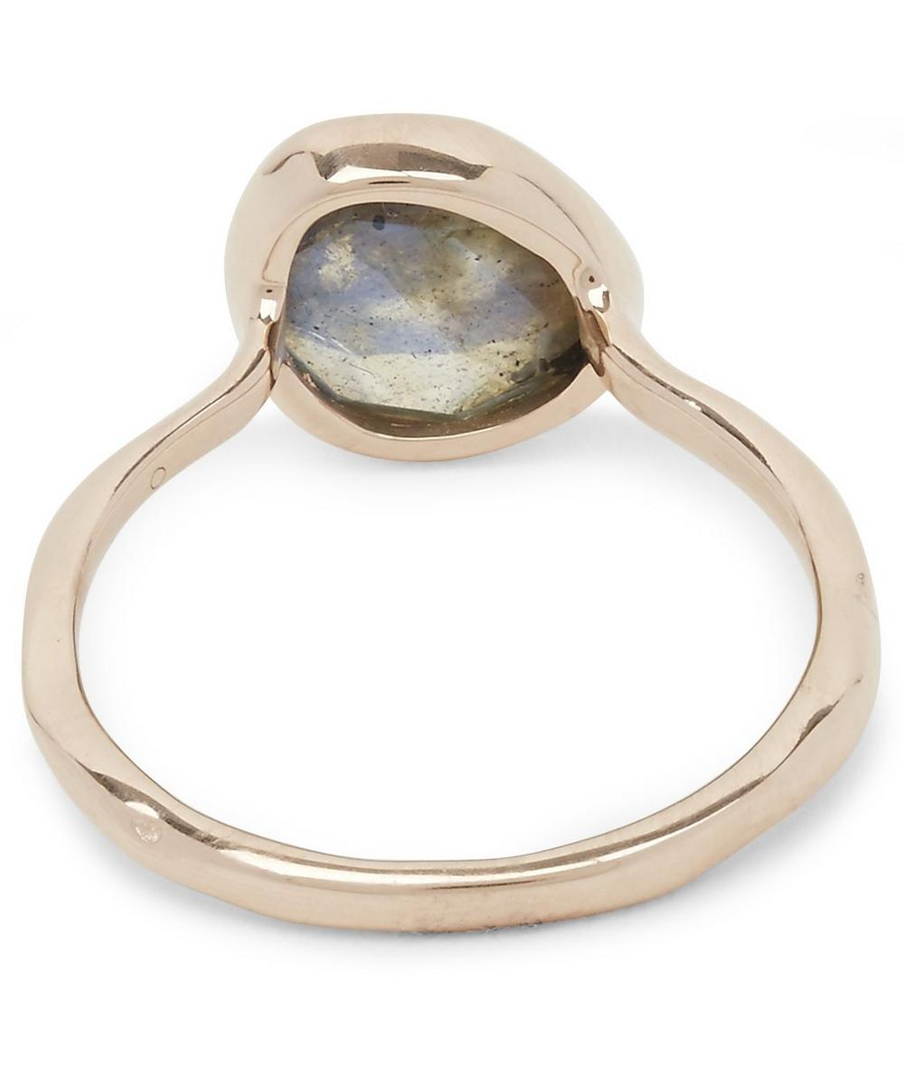 Rose Gold Vermeil Labradorite Siren Stacking Ring