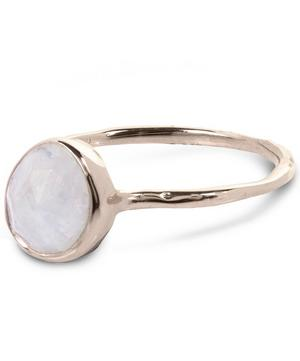 Rose Gold Vermeil Moonstone Siren Stacking Ring