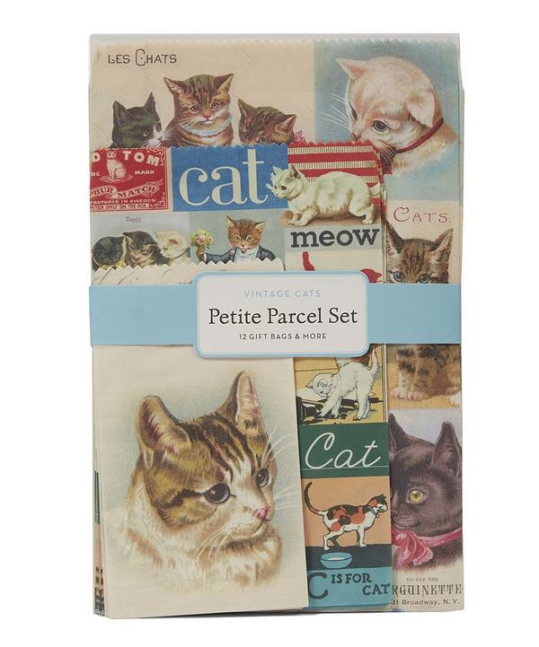 12 Pack Petite Vintage Cat Parcel Set