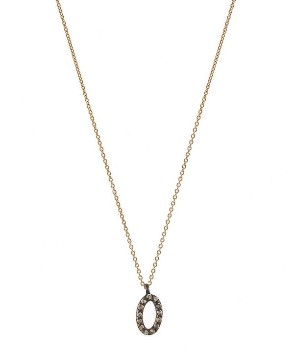 Rose Gold and Diamond Number 0 Necklace