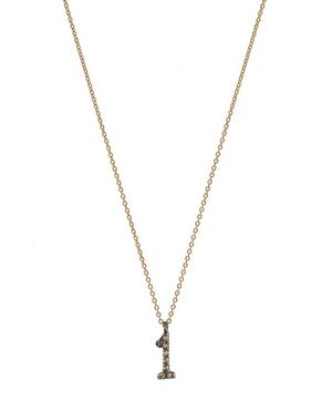 Rose Gold and Diamond Number 1 Necklace