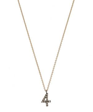 Kismet Rose Gold and Diamond 4 Number Necklace