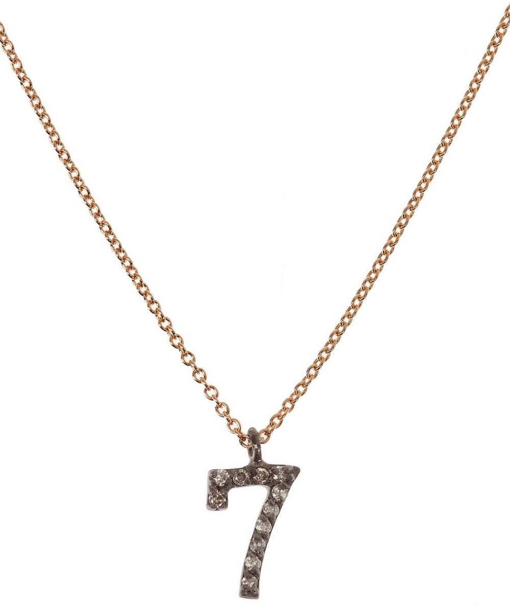 Rose Gold and Diamond Number 7 Necklace