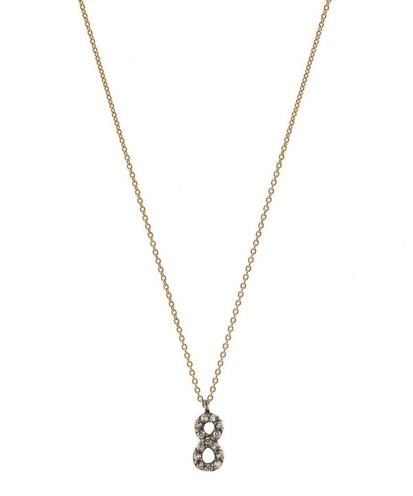 Rose Gold and Diamond Number 8 Necklace