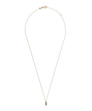 Rose Gold and Diamond 8 Number Necklace