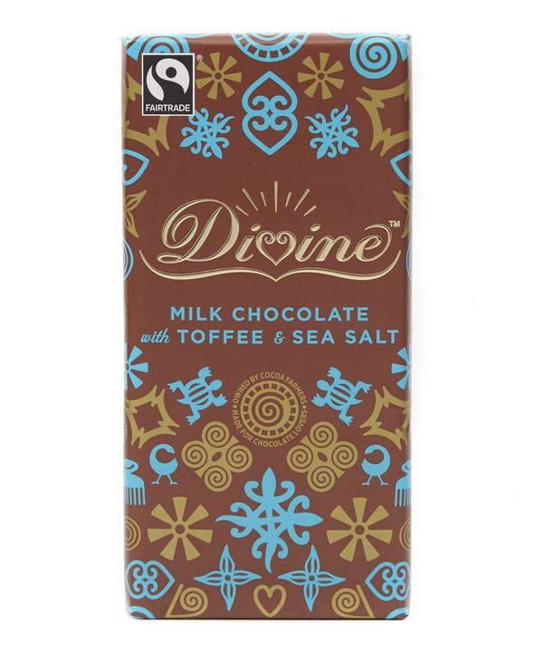 Milk Chocolate with Toffee and Sea Salt Bar 100g