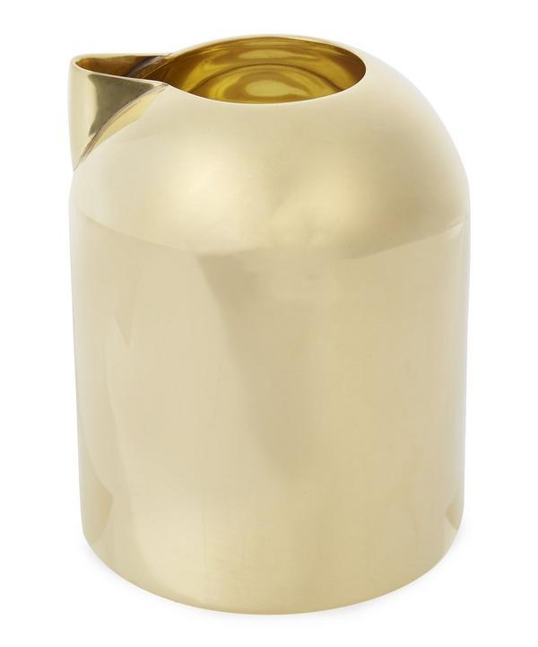 Spun Brass Form Milk Jug