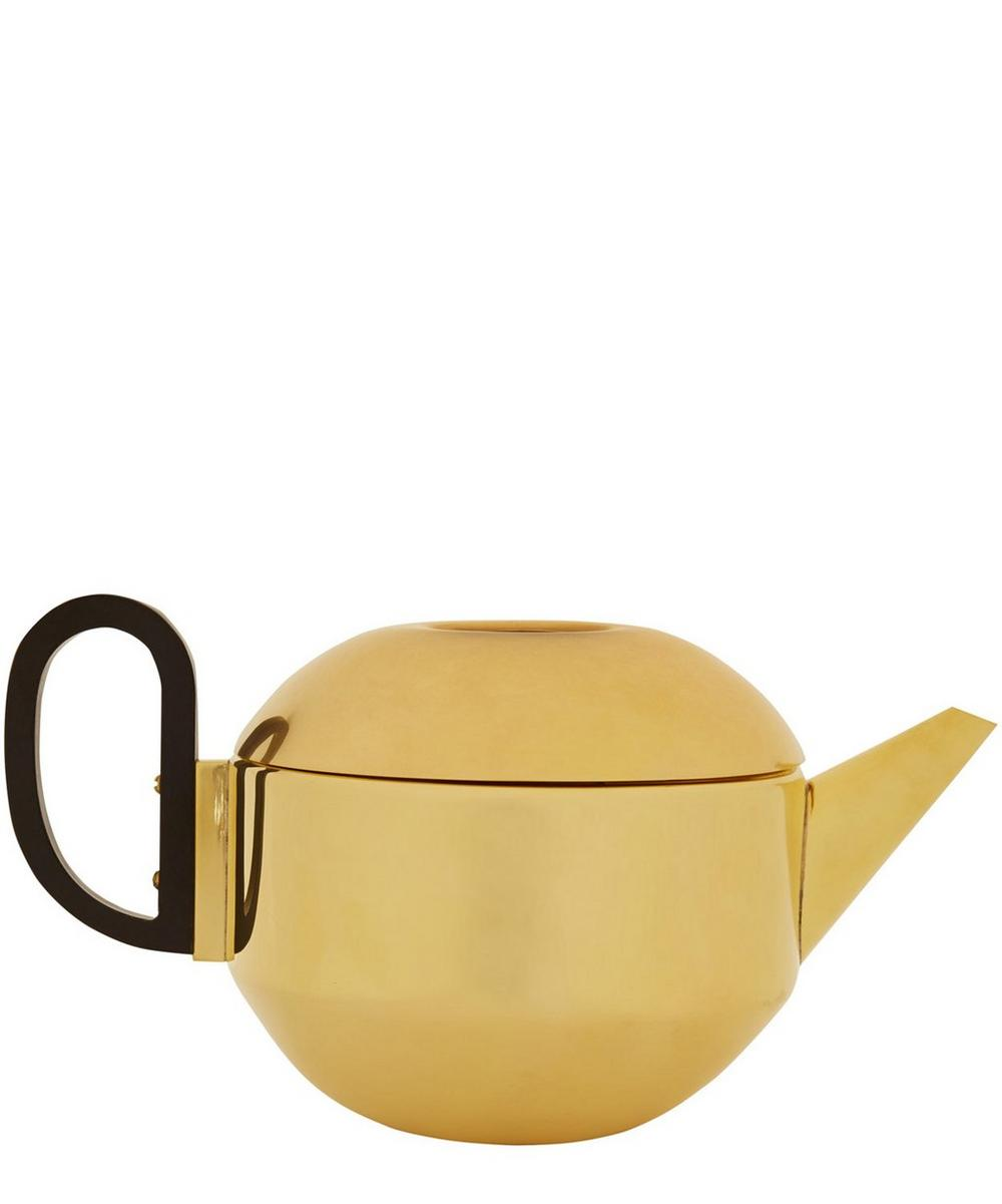 Spun Brass Form Teapot