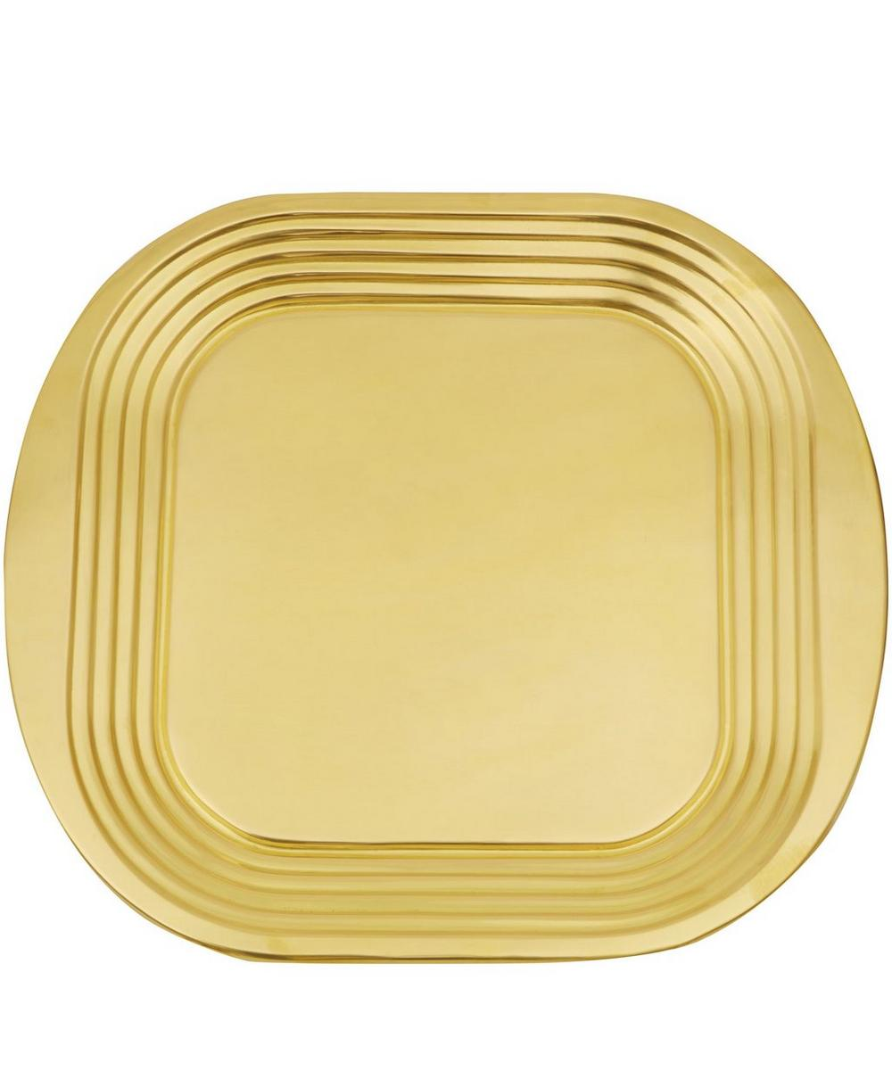 Spun Brass Form Tray