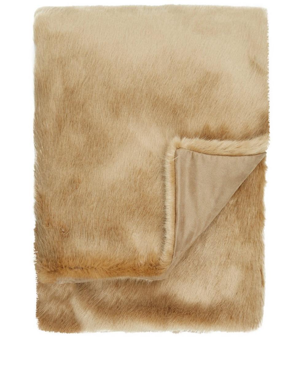 Amber Faux Fur Throw