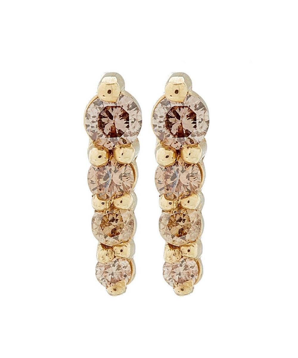 Gold Pavé Pointe Stud Earrings