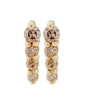 Gold Pavé Pointe Stud Earrings