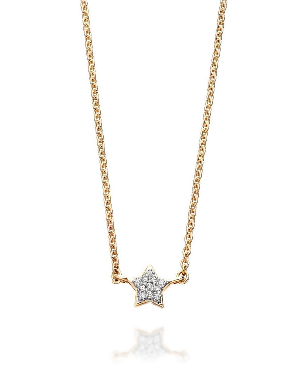 Gold Pavé Diamond Little Star Necklace