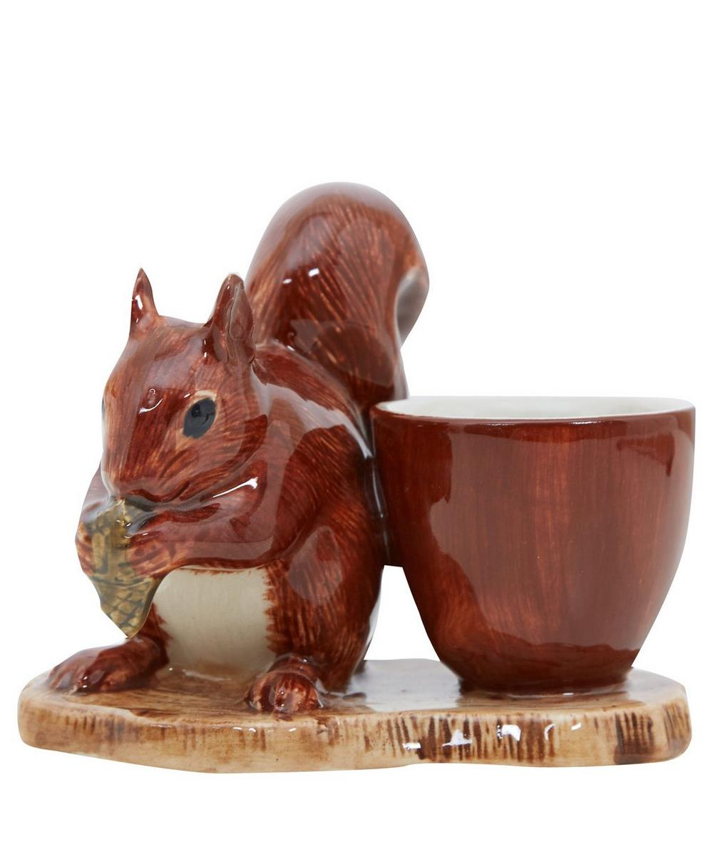 Red Squirrel Stoneware Egg Cup